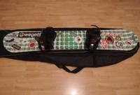 Snowboard 155 cm + vázání + grip